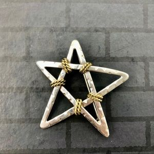Sterling Silver Star Brooch
